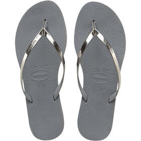 havaianas You Metallic Sandalias Mujer, gris